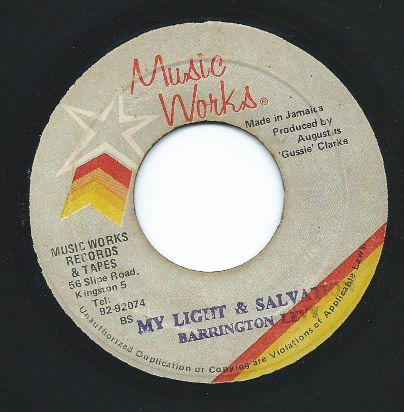 BARRINGTON LEVY / MY LIGHT & SALVATION (7