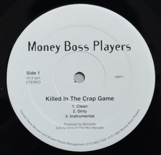 MONEY BOSS PLAYERS / KILLED IN THE CRAP GAME / PLAYERS PINNACLE (12