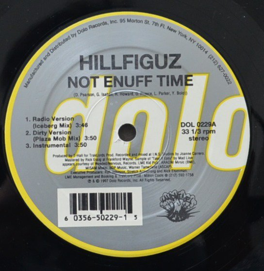 HILLFIGUZ / NOT ENUFF TIME / DA BROKE THEORY (12