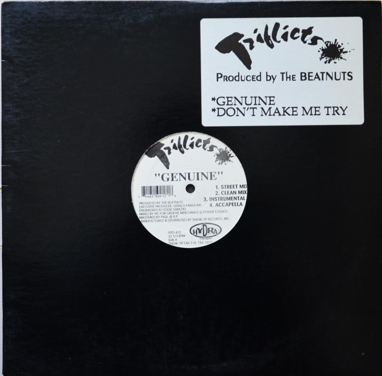 TRIFLICTS / GENUINE / DON'T MAKE ME TRY (PROD BY THE BEATNUTS) (12