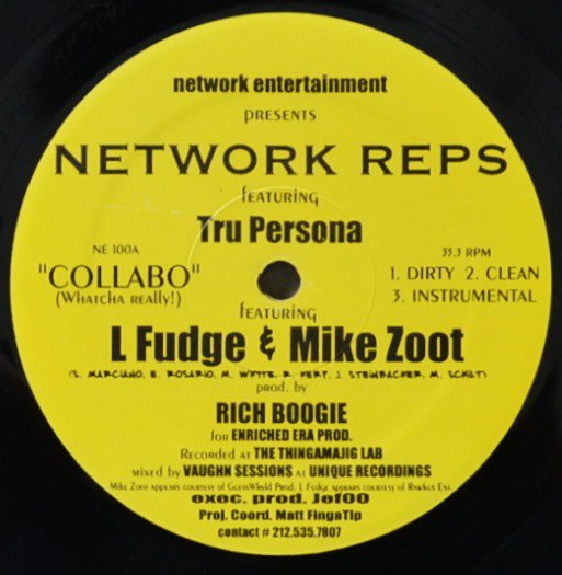 NETWORK REPS / COLLABO (WHATCHA REALLY!) / SIMPLISTIC (PROD BY DJ SPINNA) (12