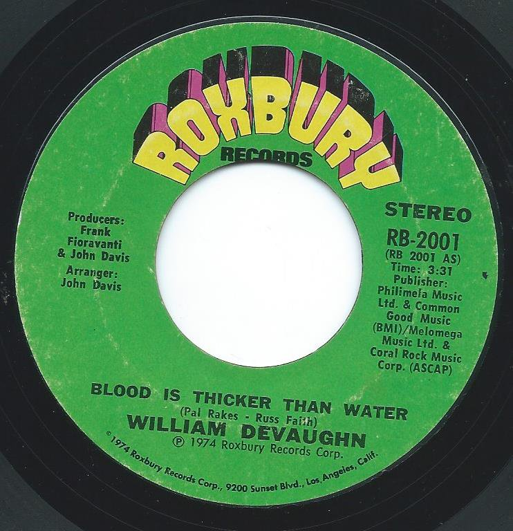 WILLIAM DEVAUGHN / BLOOD IS THICKER THAN WATER (7