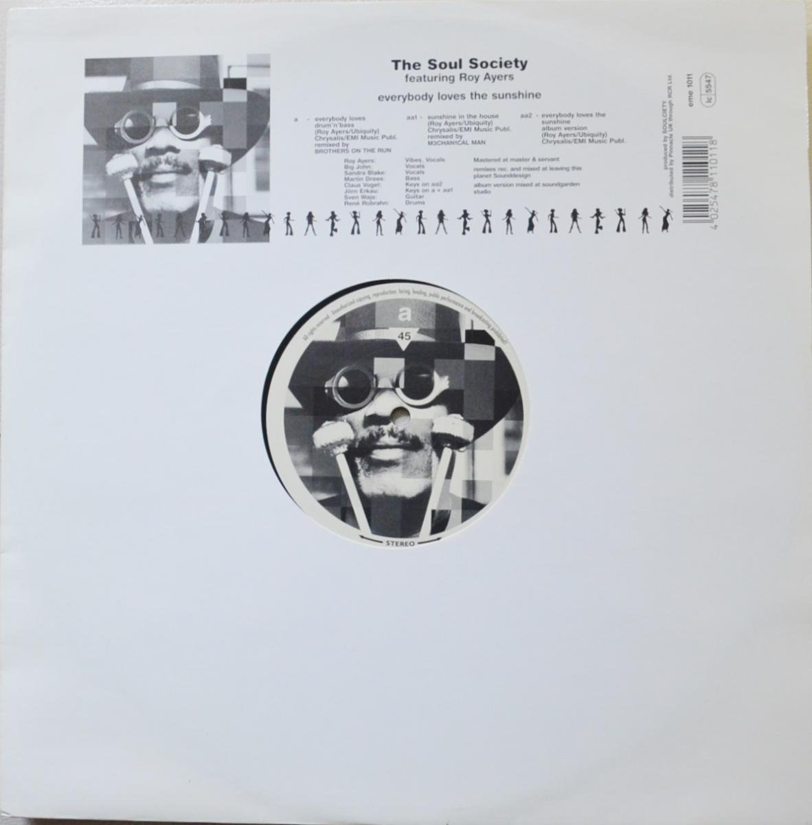 THE SOUL SOCIETY FEATURING ROY AYERS / EVERYBODY LOVES THE SUNSHINE (12