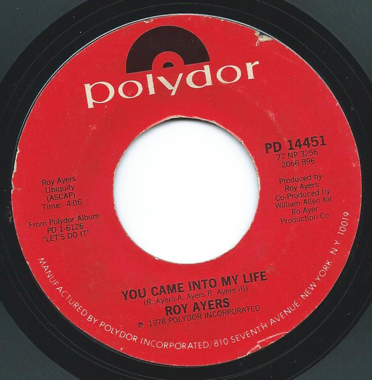 ROY AYERS / YOU CAME IN TO MY LIFE / FREAKY DEAKY (7