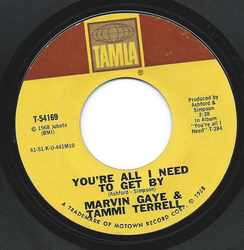 MARVIN GAYE & TAMMI TERRELL / YOU'RE ALL I NEED TO GET BY / TWO CAN HAVE A PARTY (7