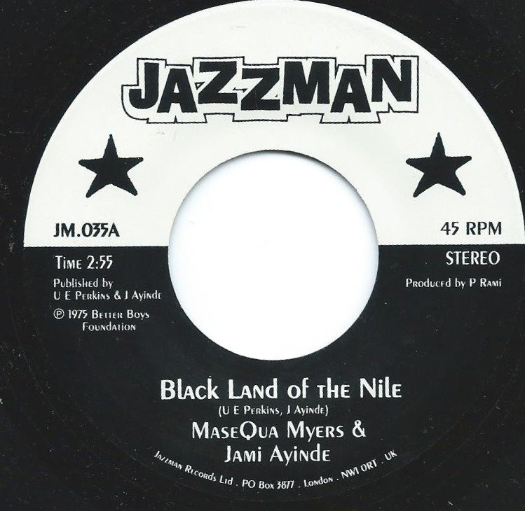 MASEQUA MYERS & JAMI AYINDE / MARY LOU WILLIAMS / BLACK LAND OF THE NILE / COMMUNION SONG #3 (7