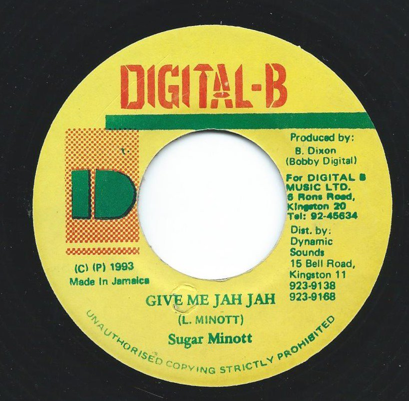 SUGAR MINOTT / GIVE ME JAH JAH (7