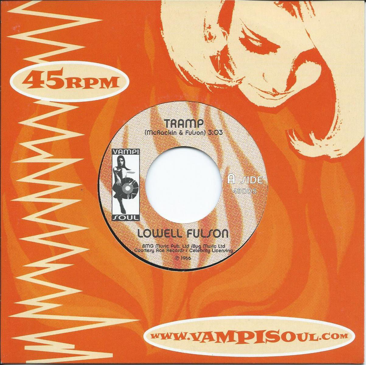 LOWELL FULSOM / TRAMP / MAKE A LITTLE LOVE  (7
