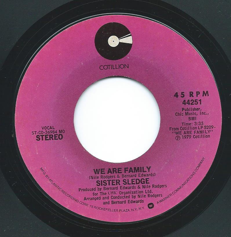 SISTER SLEDGE / WE ARE FAMILY / EASIER TO LOVE (7