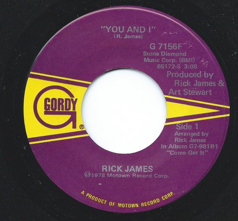 RICK JAMES / YOU AND I / HOLLYWOOD (7