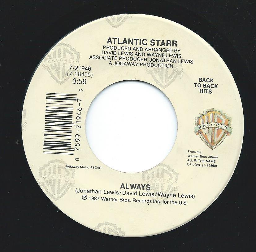 ATLANTIC STARR / ALWAYS / ALL IN THE NAME OF LOVE (7