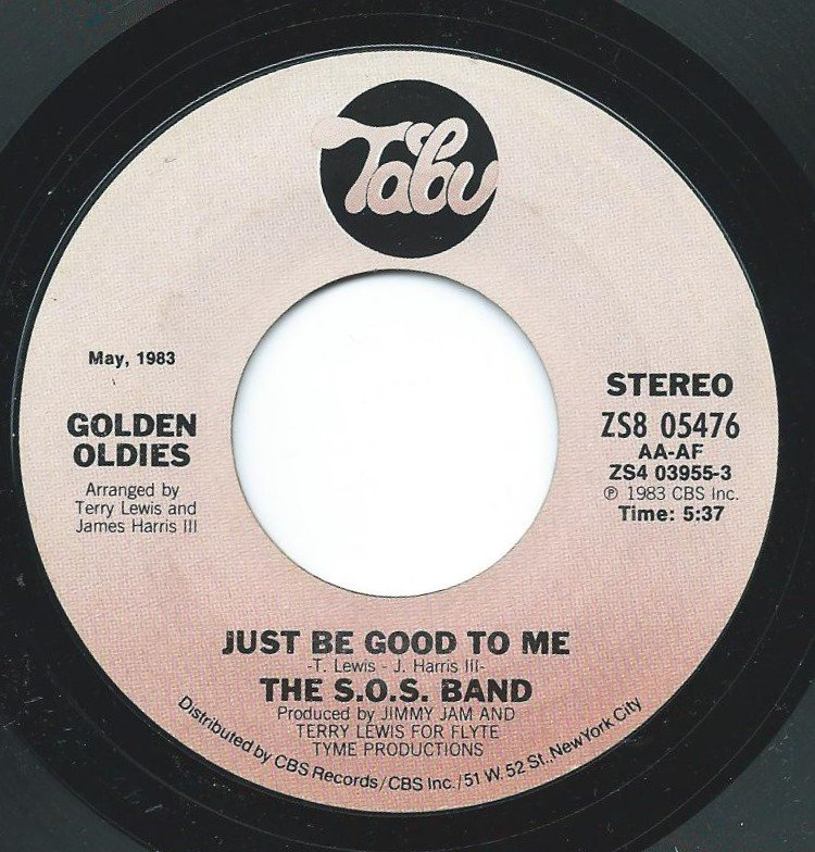 THE S.O.S. BAND / JUST BE GOOD TO ME / TELL ME IF YOU STILL CARE (7
