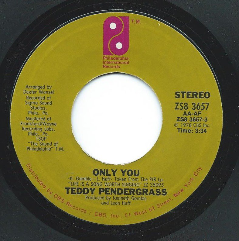 TEDDY PENDERGRASS / ONLY YOU / IT DON'T HURT NOW (7