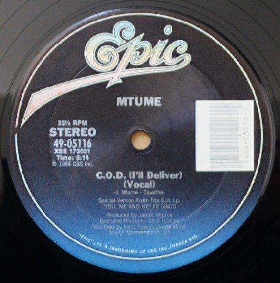 MTUME / C.O.D. (I'LL DELIVER) (12