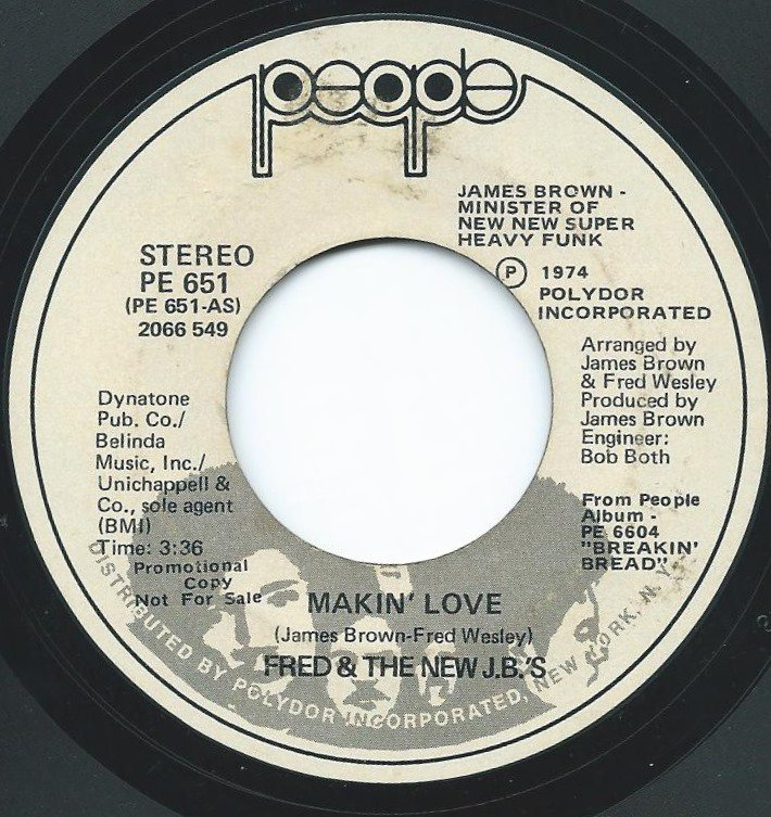 FRED & THE NEW J.B.'S ‎/ MAKIN' LOVE (7