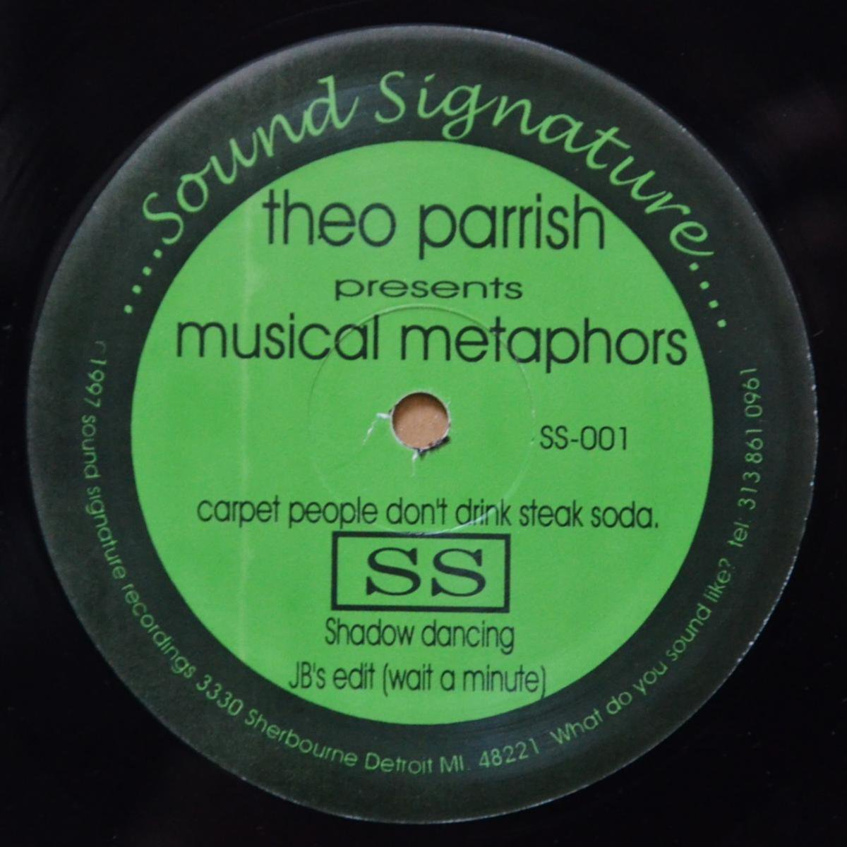 THEO PARRISH ‎/ MUSICAL METAPHORS / SHADOW DANCING / JB'S EDIT (WAIT A MINUTE) (12