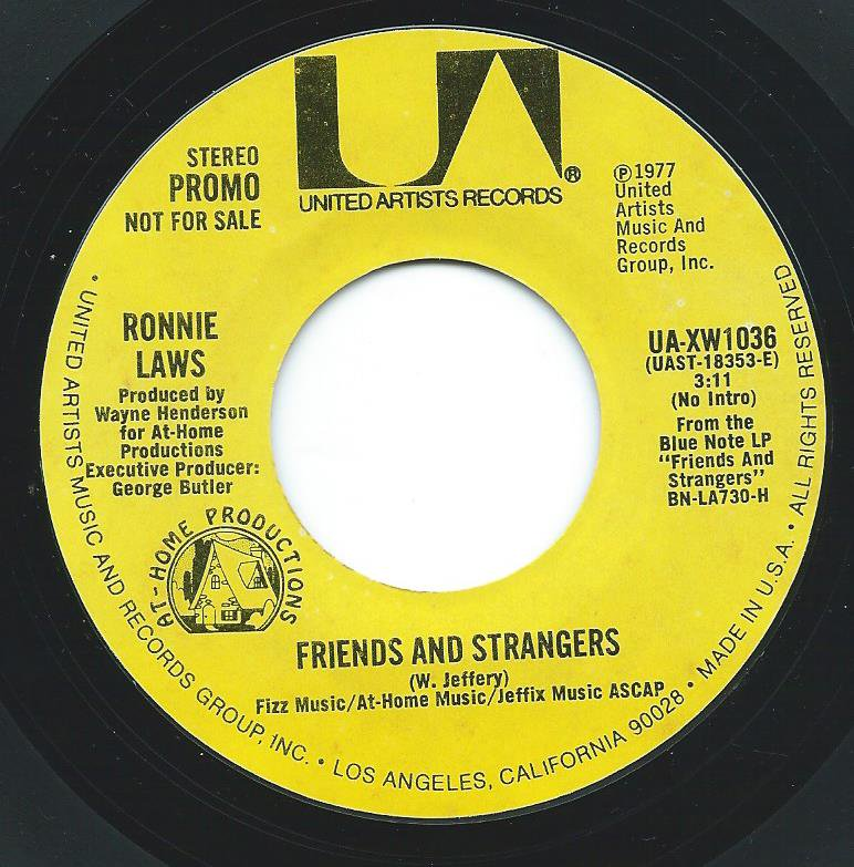 RONNIE LAWS ‎/ FRIENDS AND STRANGERS (7