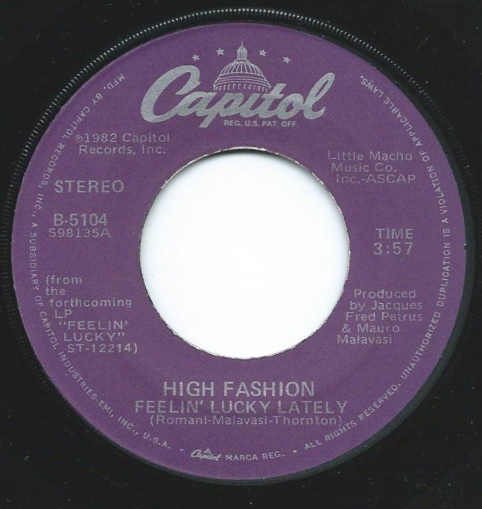 HIGH FASHION / FEELIN' LUCKY LATELY / BRAINY CHILDREN (7