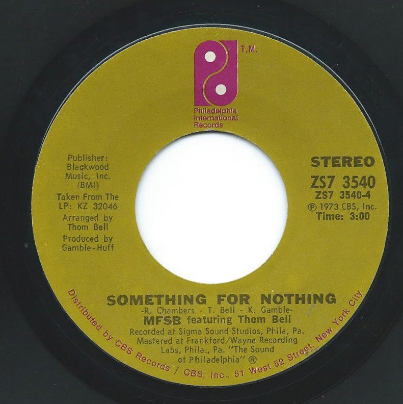 MFSB / SOMETHING FOR NOTHING / TSOP (THE SOUND OF PHILADELPHIA) (7