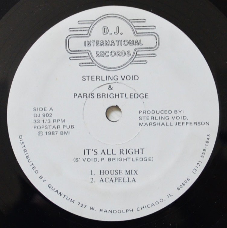 STERLING VOID & PARIS BRIGHTLEDGE ‎/ IT'S ALL RIGHT (12