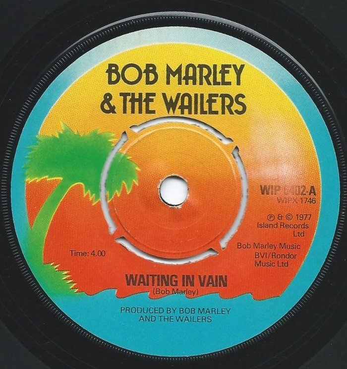 BOB MARLEY & THE WAILERS ‎/ WAITING IN VAIN / ROOTS (7