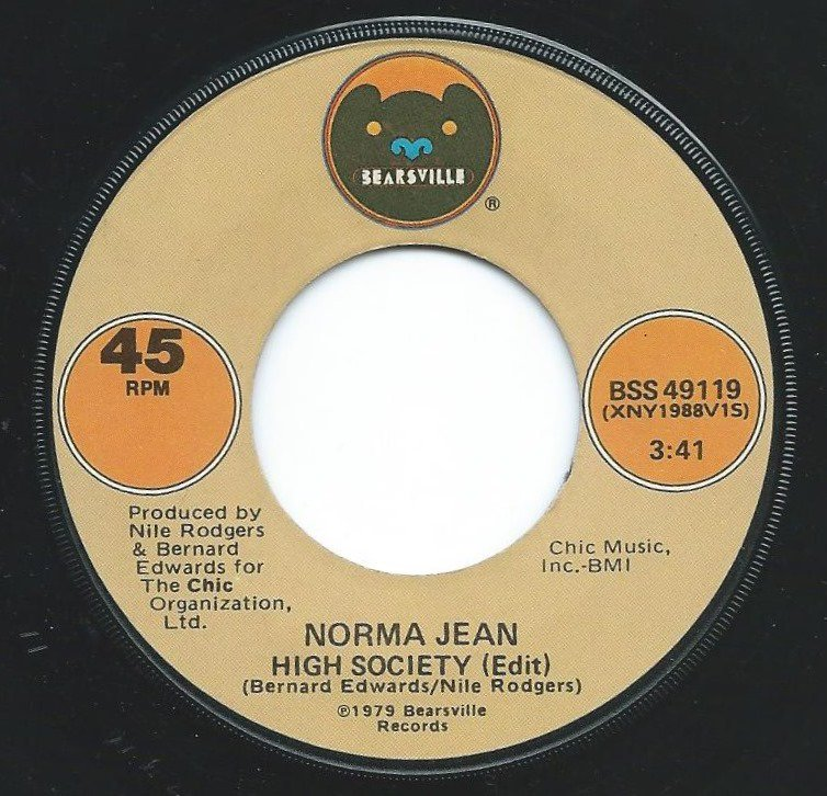 NORMA JEAN / HIGH SOCIETY / HOLD ME LONELY BOY (7