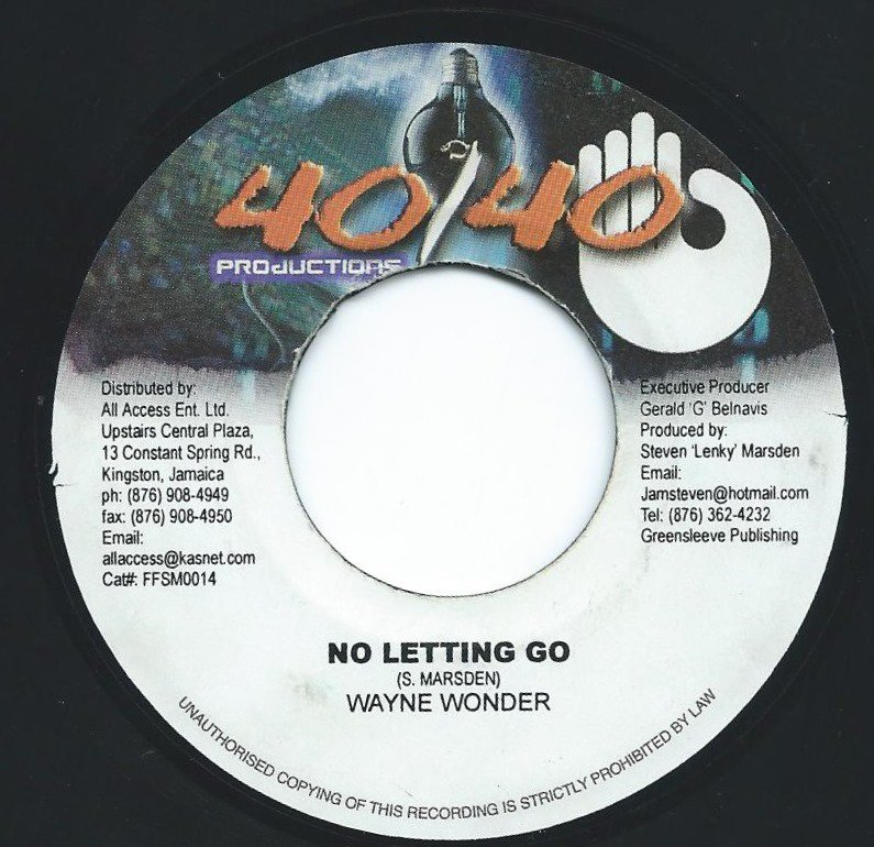 WAYNE WONDER ‎/ NO LETTING GO (7