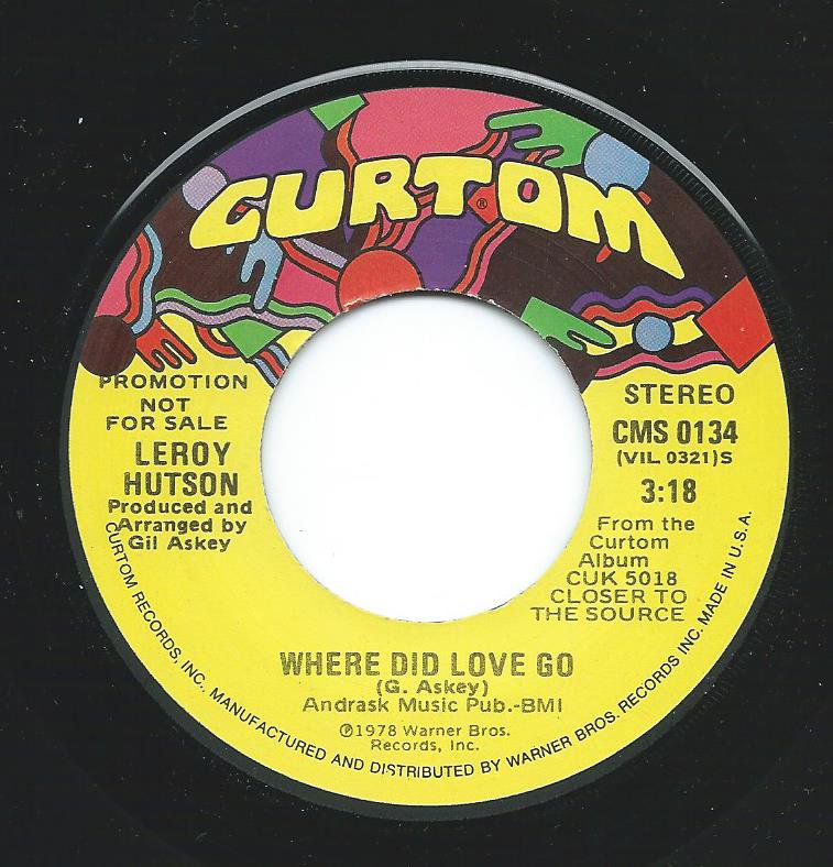 LEROY HUTSON ‎/ WHERE DID LOVE GO (7