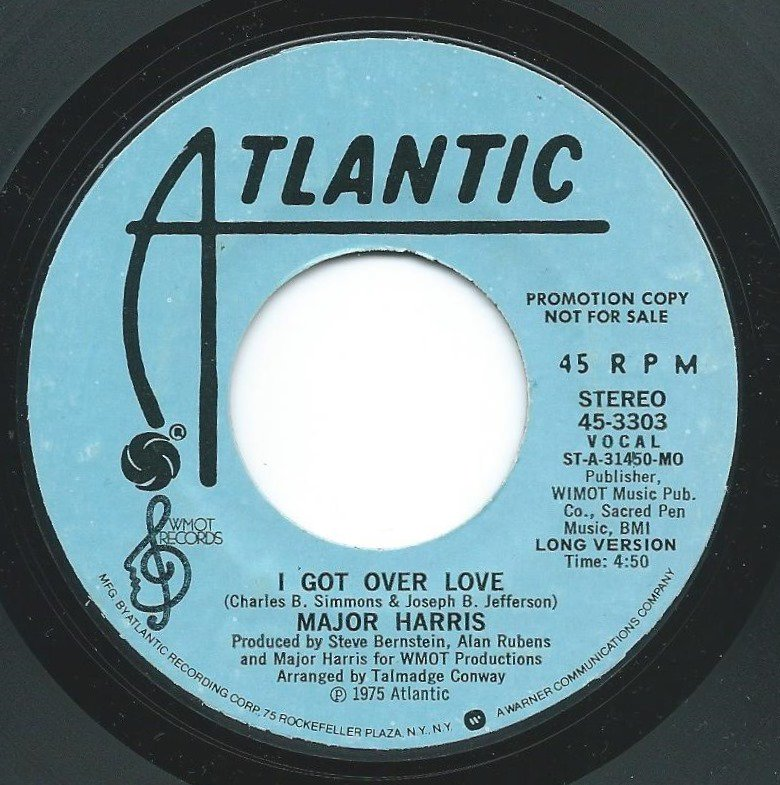MAJOR HARRIS ‎/ I GOT OVER LOVE (7