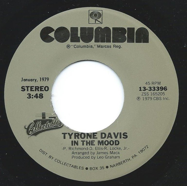 TYRONE DAVIS ‎/ IN THE MOOD / GIVE IT UP (TURN IT LOOSE) (7