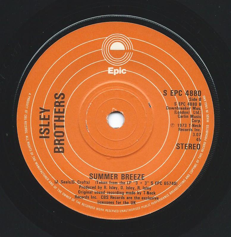 ISLEY BROTHERS / THAT LADY / SUMMER BREEZE (7