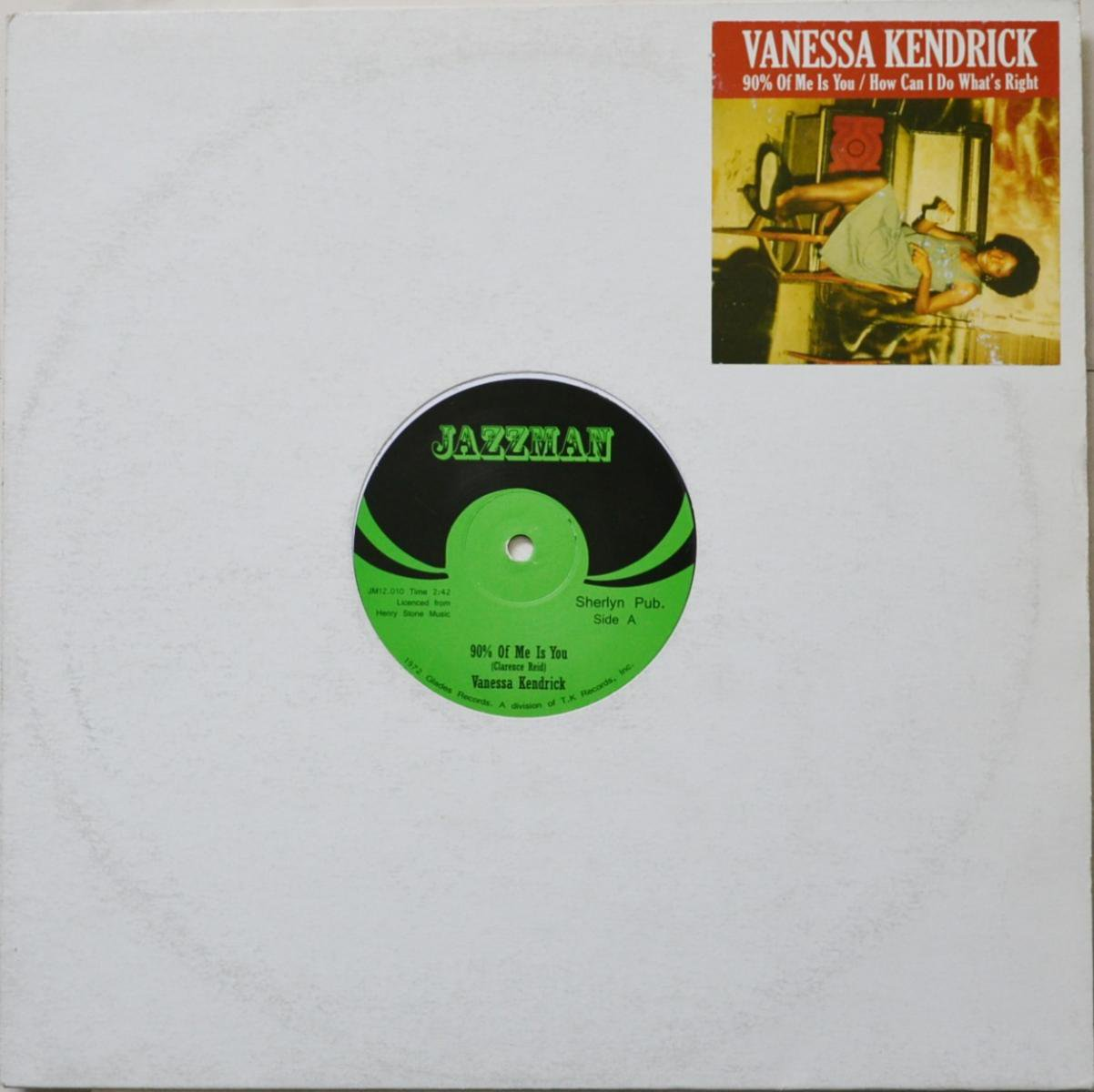 VANESSA KENDRICK ‎/ 90% OF ME IS YOU / HOW CAN I DO WHAT'S RIGHT (12