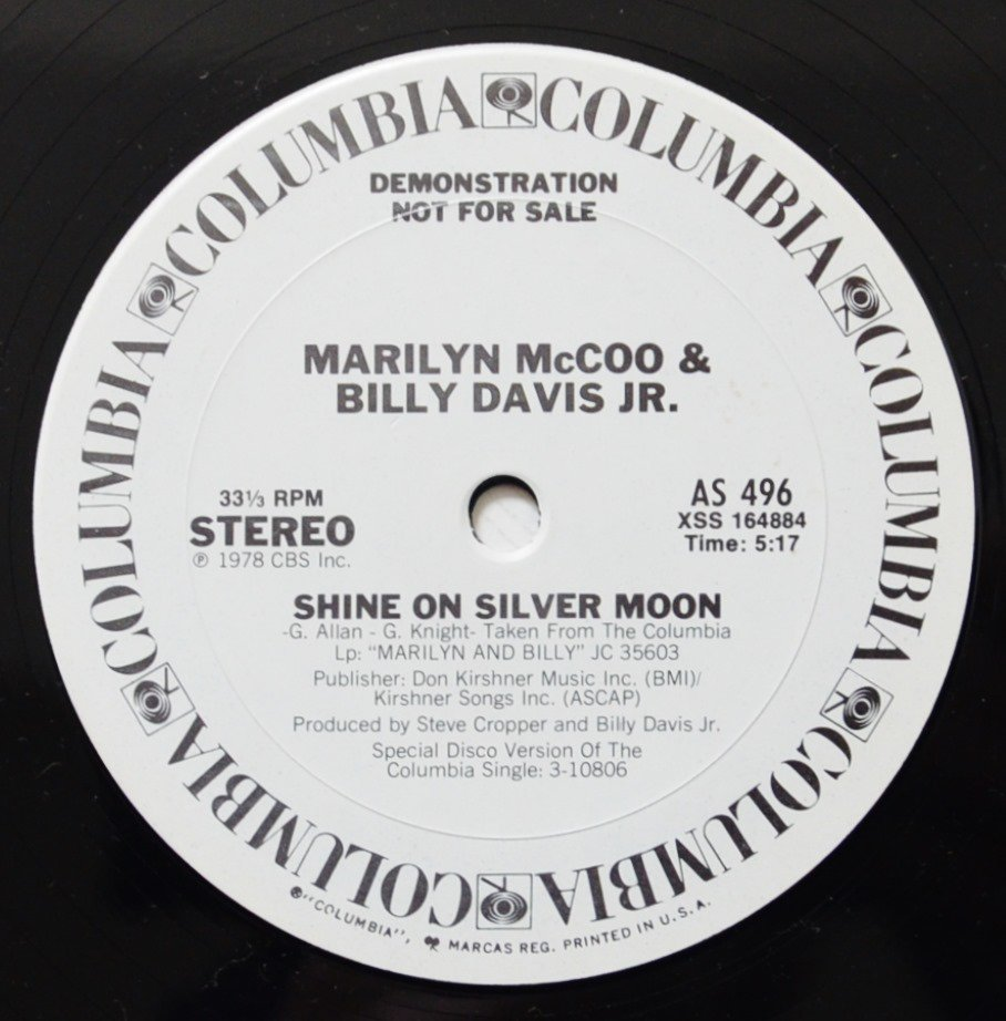 MARILYN MCCOO & BILLY DAVIS JR. / SHINE ON SILVER MOON (12
