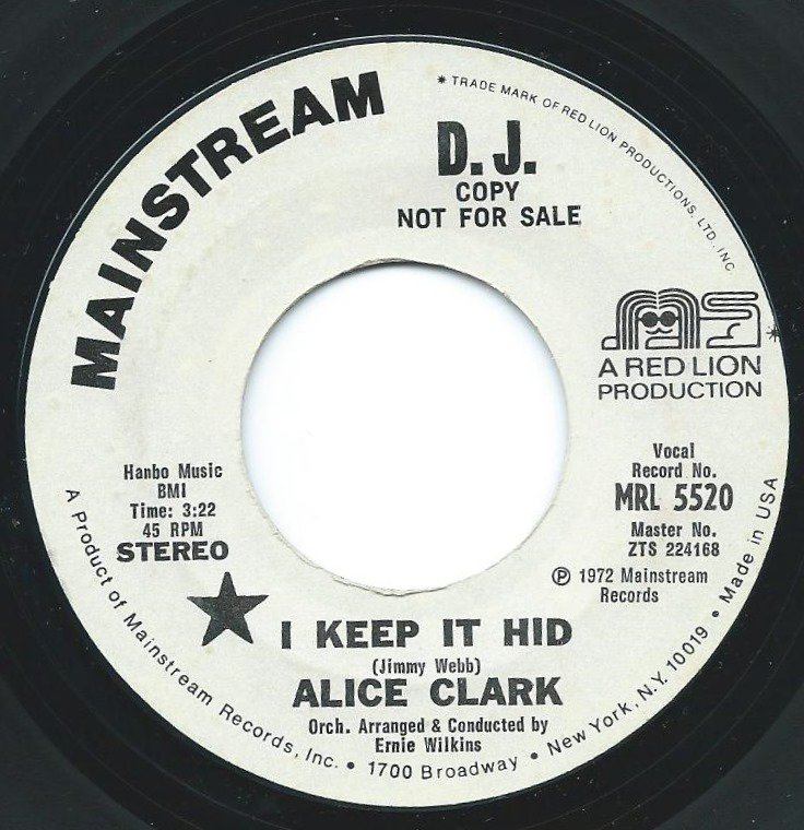 ALICE CLARK / I KEEP IT HID / DON'T WONDER WHY (7