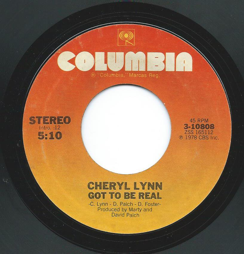 CHERYL LYNN / GOT TO BE REAL / COME IN FROM THE RAIN (7