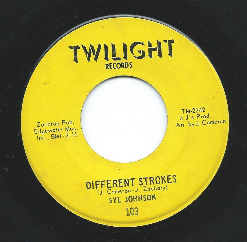 SYL JOHNSON / DIFFERENT STROKES / SORRY BOUT DAT (7