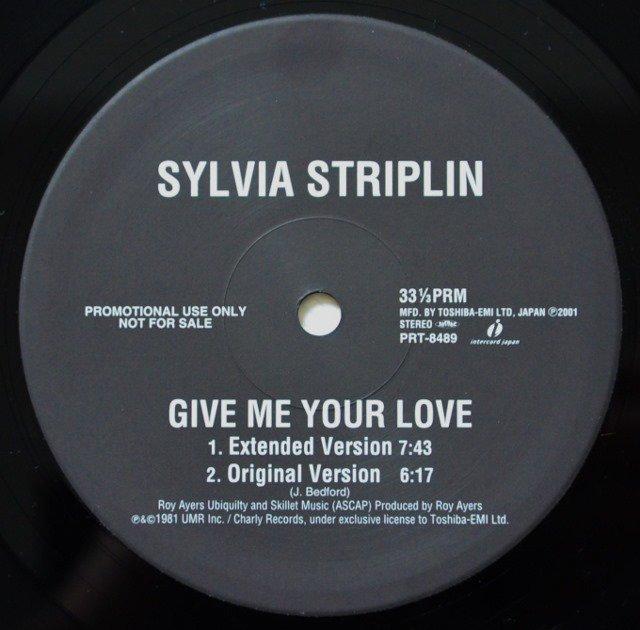 V.A.(SYLVIA STRIPLIN,INCREDIBLE BONGO BAND,BILLY SQUIER) / GIVE ME YOUR LOVE / APACHE (12