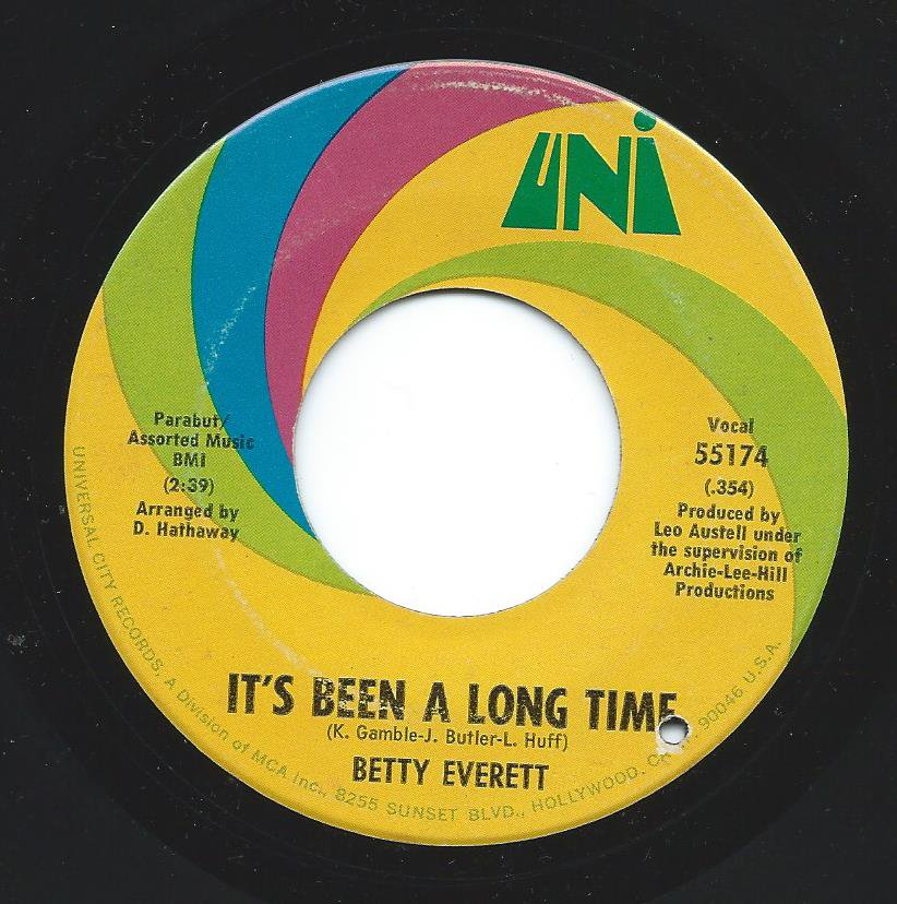 BETTY EVERETT ‎/ IT'S BEEN A LONG TIME / JUST A MAN'S WAY (7