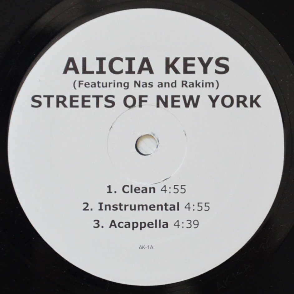 ALICIA KEYS FEATURING NAS AND RAKIM ‎/ STREETS OF NEW YORK (12