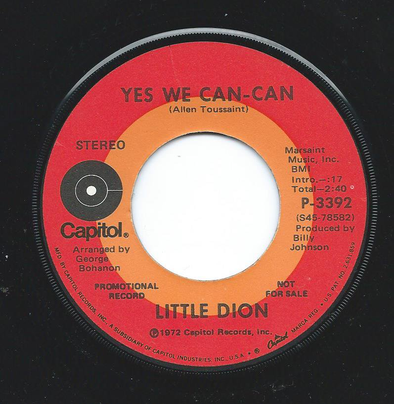 LITTLE DION ‎/ YES WE CAN - CAN / YES WE CAN - CAN (7