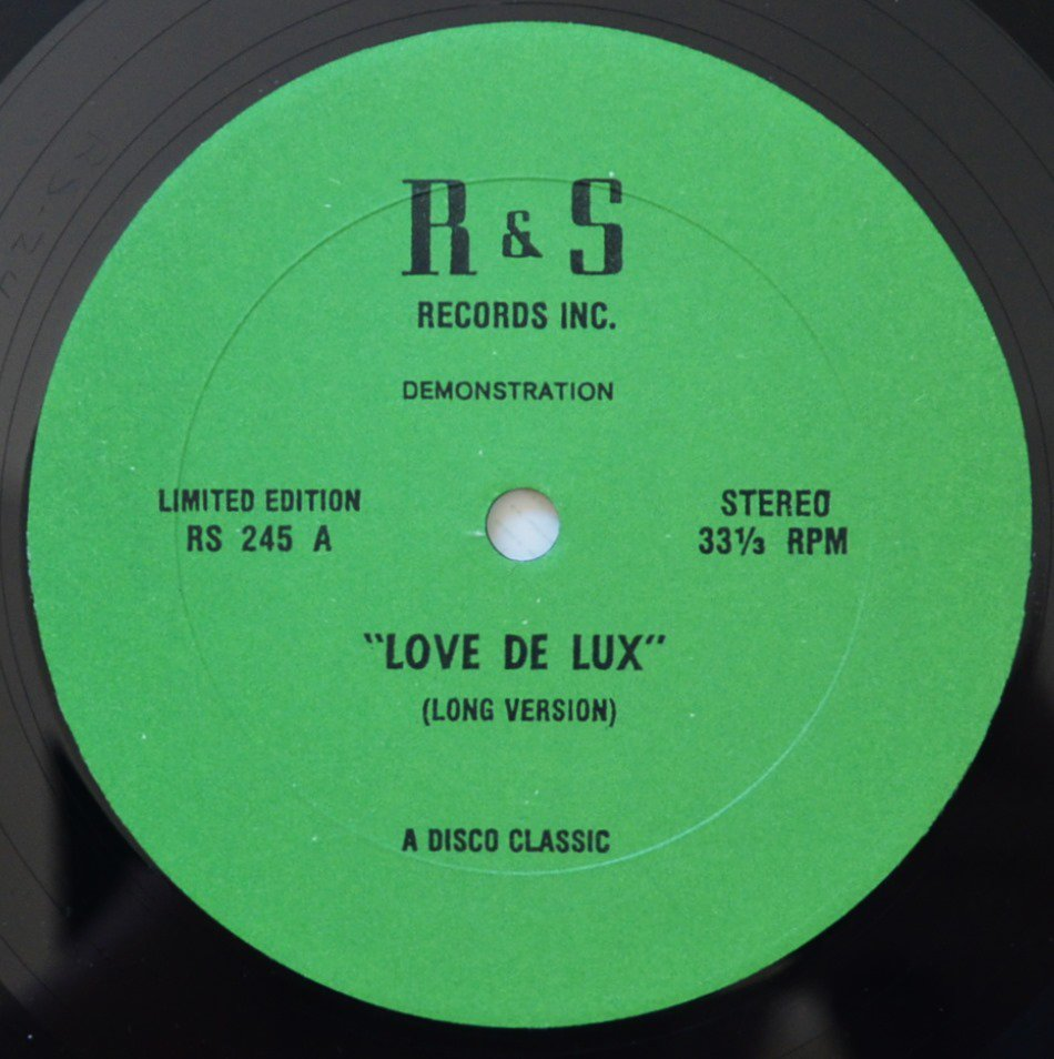 LOVE DE-LUXE / HERE COMES THAT SOUND AGAIN  (12