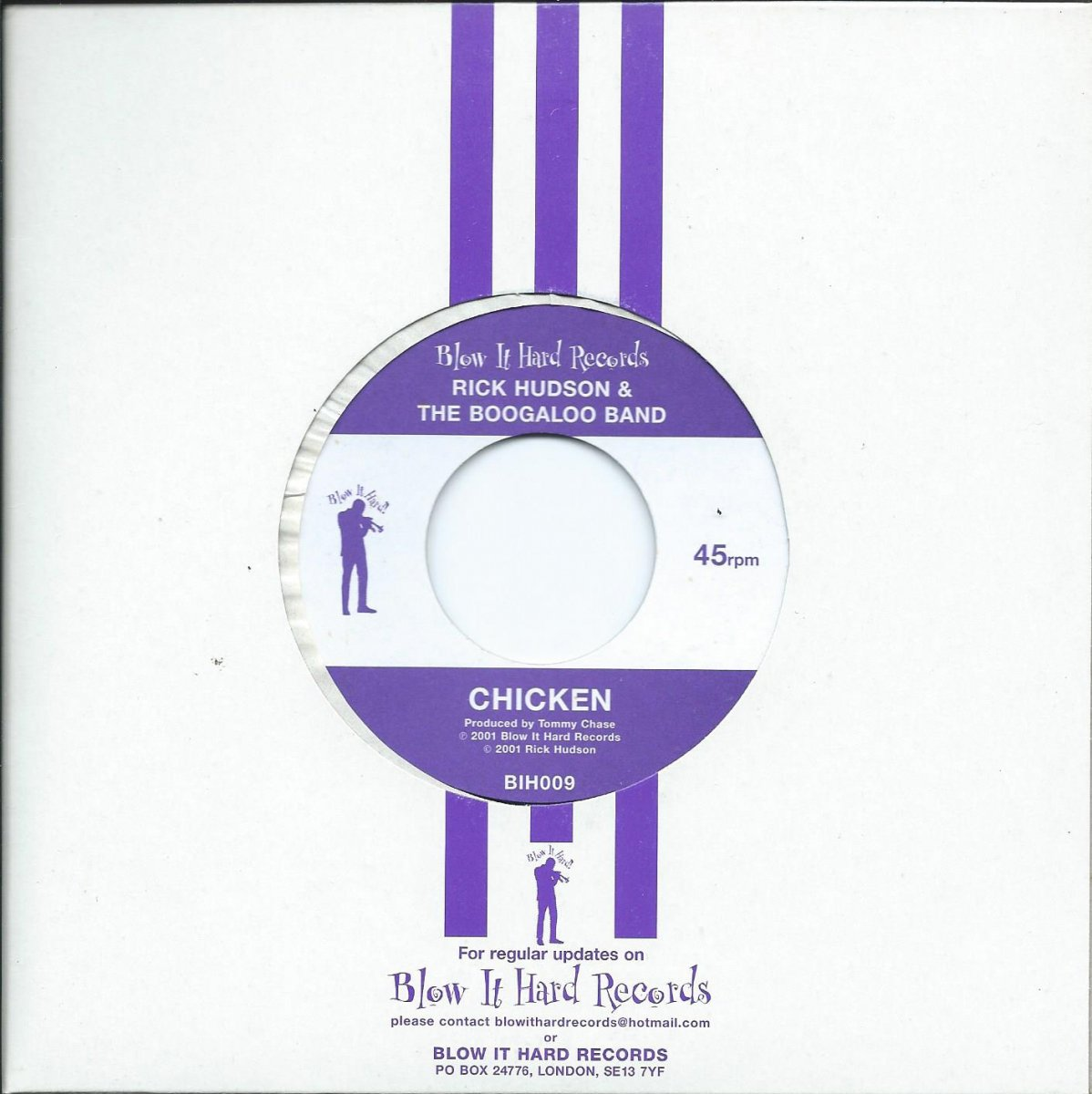 RICK HUDSON AND THE BOOGALOO BAND ‎/ CHICKEN / HOME FRIES (7