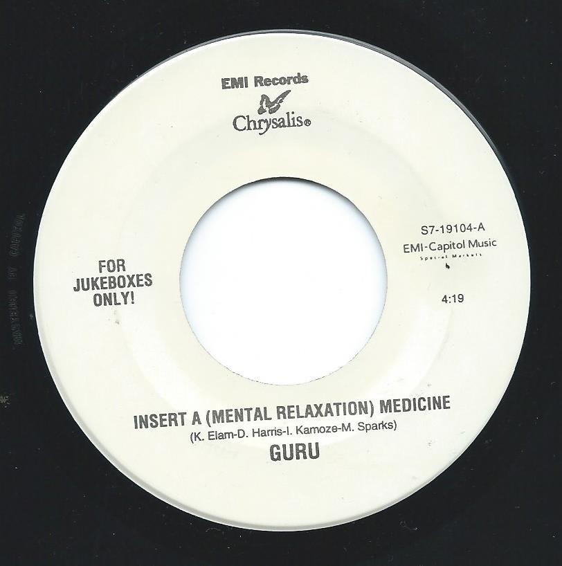 GURU / INSERT A (MENTAL RELAXATION) MEDICINE / LIFESAVER (7