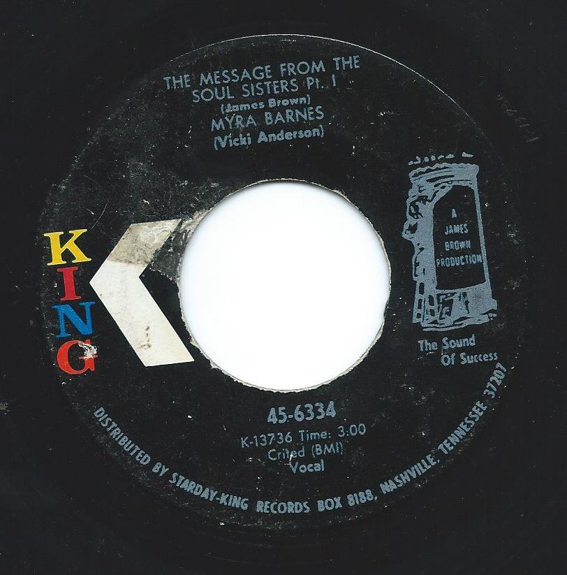 MYRA BARNES / THE MESSAGE FROM THE SOUL SISTERS (7
