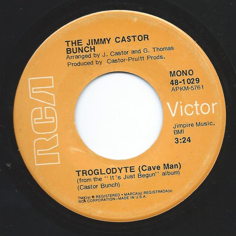 THE JIMMY CASTOR BUNCH ‎/ TROGLODYTE / I PROMISE TO REMEMBER (7