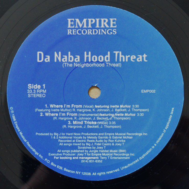 DA NABA HOOD THREAT / WHERE I'M FROM / MIND TRICKS / REPRESENT GROUNDZ (12