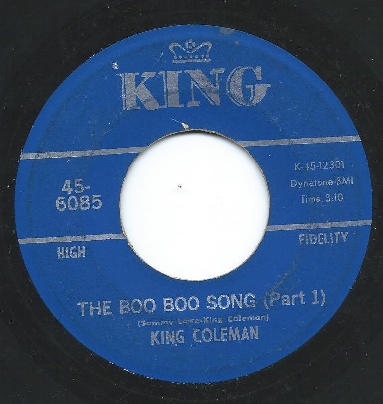 CARLTON (KING) COLEMAN / THE BOO BOO SONG PT. 1 & PART 2 (7