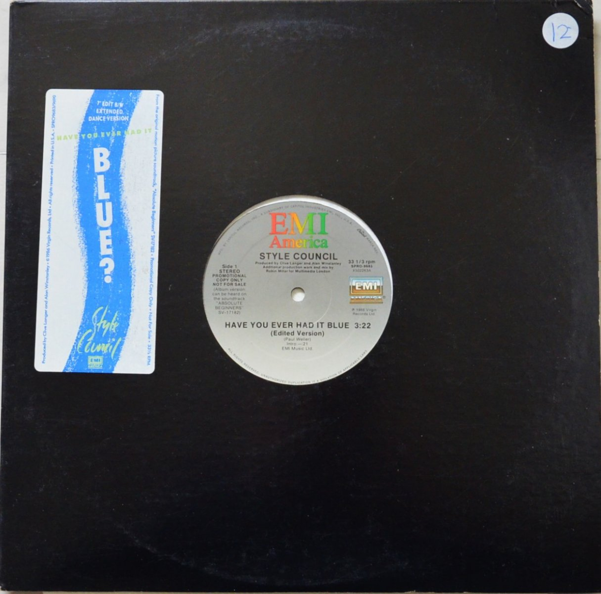 STYLE COUNCIL / HAVE YOU EVER HAD IT BLUE (12