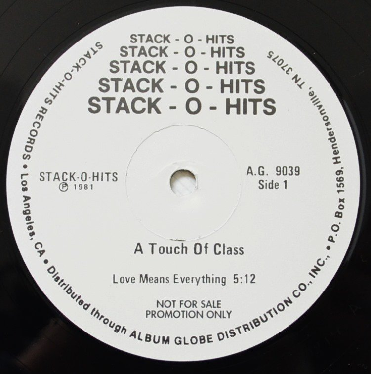A TOUCH OF CLASS / LOVE MEANS EVERYTHING / YOU GOT TO KNOW BETTER (12