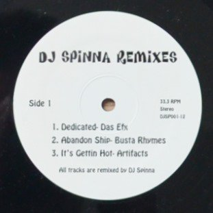 V.A.(DAS EFX,ARTIFACTS...‎) / DEDICATED / IT'S GETTIN HOT (DJ SPINNA REMIXES) (12